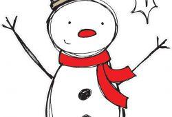 Снеговик в цилиндре, дизайн #06308