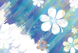 Цветы в синих тонах, дизайн #06353
