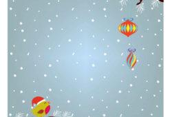 Снегирь в рождество, дизайн #06355