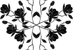 Куст цветов, дизайн #06423