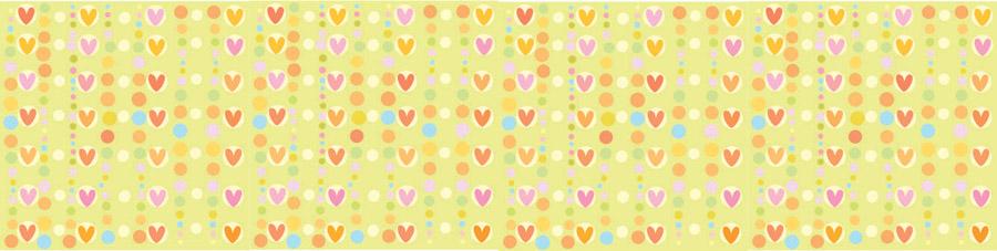 Разноцветные сердца, дизайн #06431