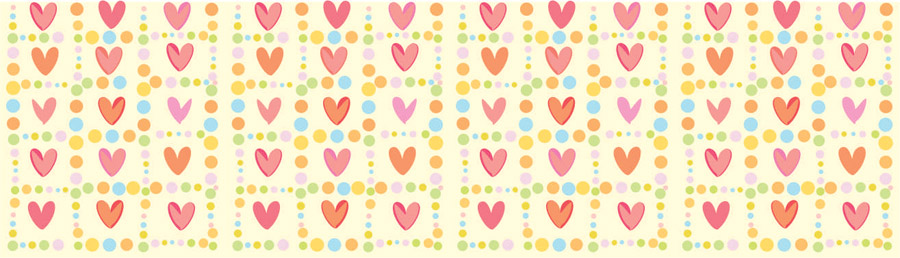 Скинали для кухни Веселые сердечки, дизайн #06435