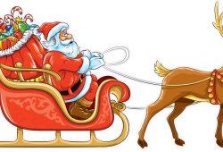 Дед Мороз с оленем, дизайн #06481
