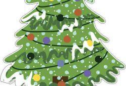 Новогодняя ель, дизайн #06484