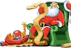 Дед Мороз с письмами, дизайн #06487