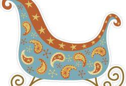 Рождественская коляска, дизайн #06488