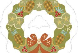 Рождественский венок, дизайн #06491
