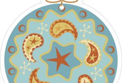Новогодний шар, дизайн #06495