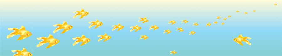 Золотые рыбки, дизайн #06521