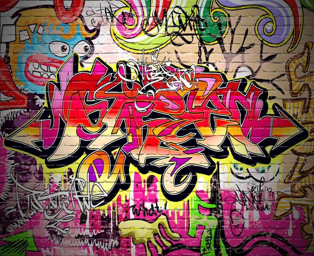 Римские шторы Уличное граффити, дизайн #06546