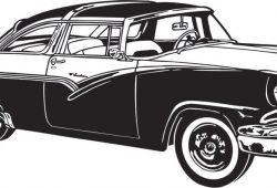Винтажный автомобиль, дизайн #06638