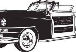Ретро кабриолет, дизайн #06640