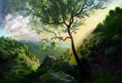 Пейзаж в горах, дизайн #06786