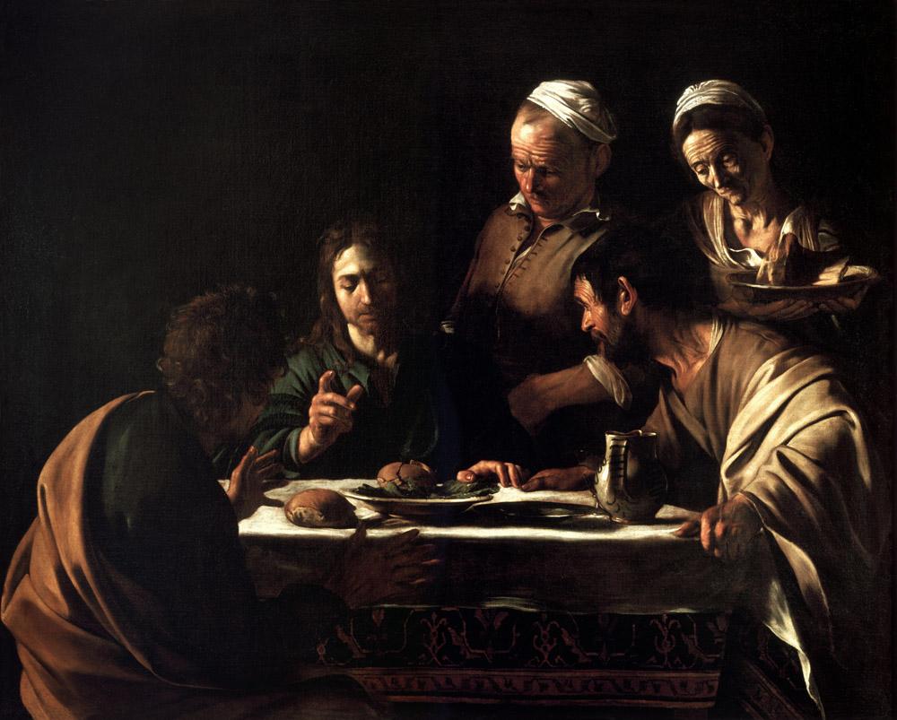 Постеры Караваджо Христос в Эммаусе, дизайн #06804