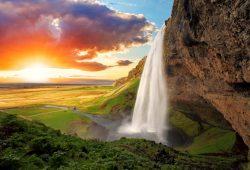 Водопад на закате, дизайн #06909