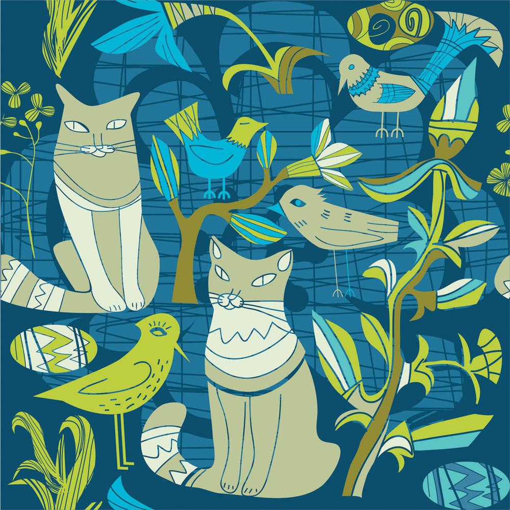 Японские панели Декоративные коты, дизайн #06919