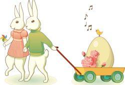 Пасхальный кролик, дизайн #06968
