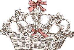 Пасхальная корзина, дизайн #06971