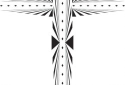 Пасхальный крестик, дизайн #06981