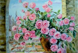 Ваза цветов, дизайн #07018