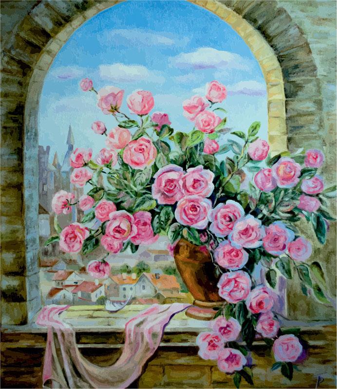 Постеры Ваза цветов, дизайн #07018