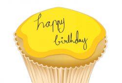 Кекс С Днем Рождения, дизайн #07093