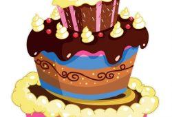 Праздничный торт, дизайн #07096