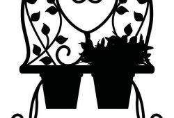 Горшочек с цветами, дизайн #07101