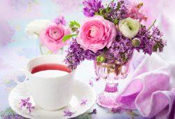 Цветы на столе, дизайн #07161