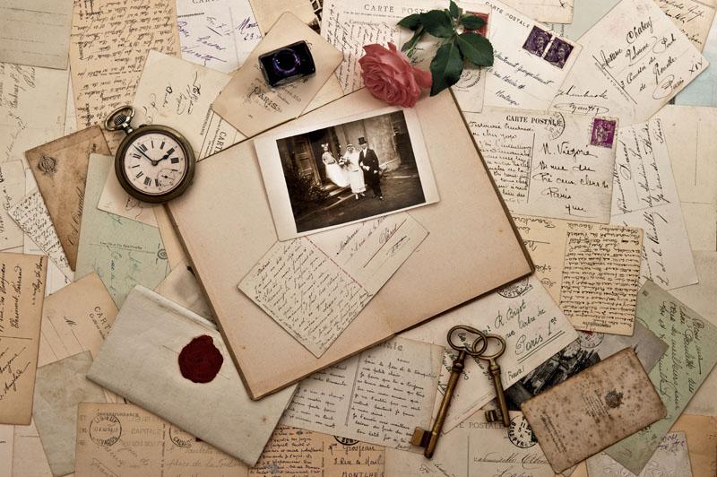 Фотообои под заказ Забытые письма, дизайн #07166