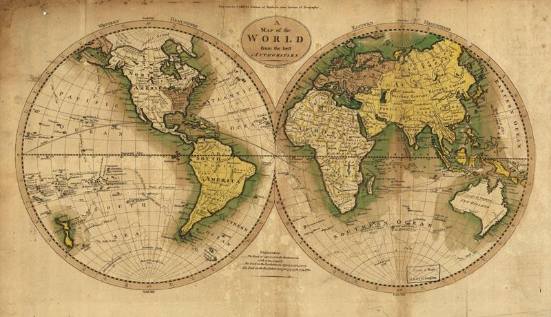 Старая карта, дизайн #07173