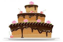Праздничный торт, дизайн #07183