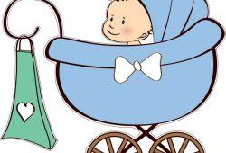 Коляска с малышом, дизайн #07221