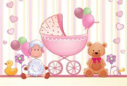 С рождением девочки, дизайн #07271