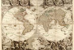 Старинная карта, дизайн #07465