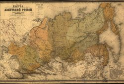 Старинная карта азиатской России, дизайн #07466