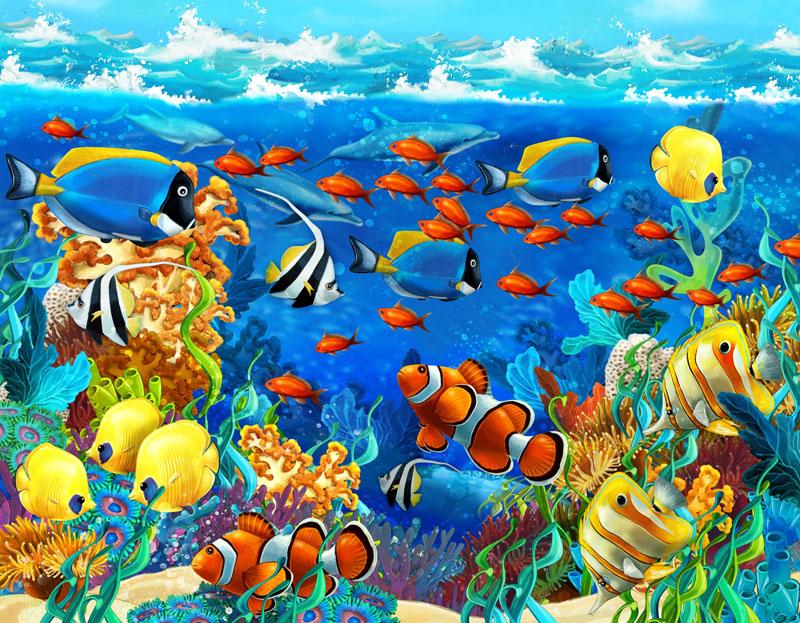 Красочные рыбки, дизайн #07475
