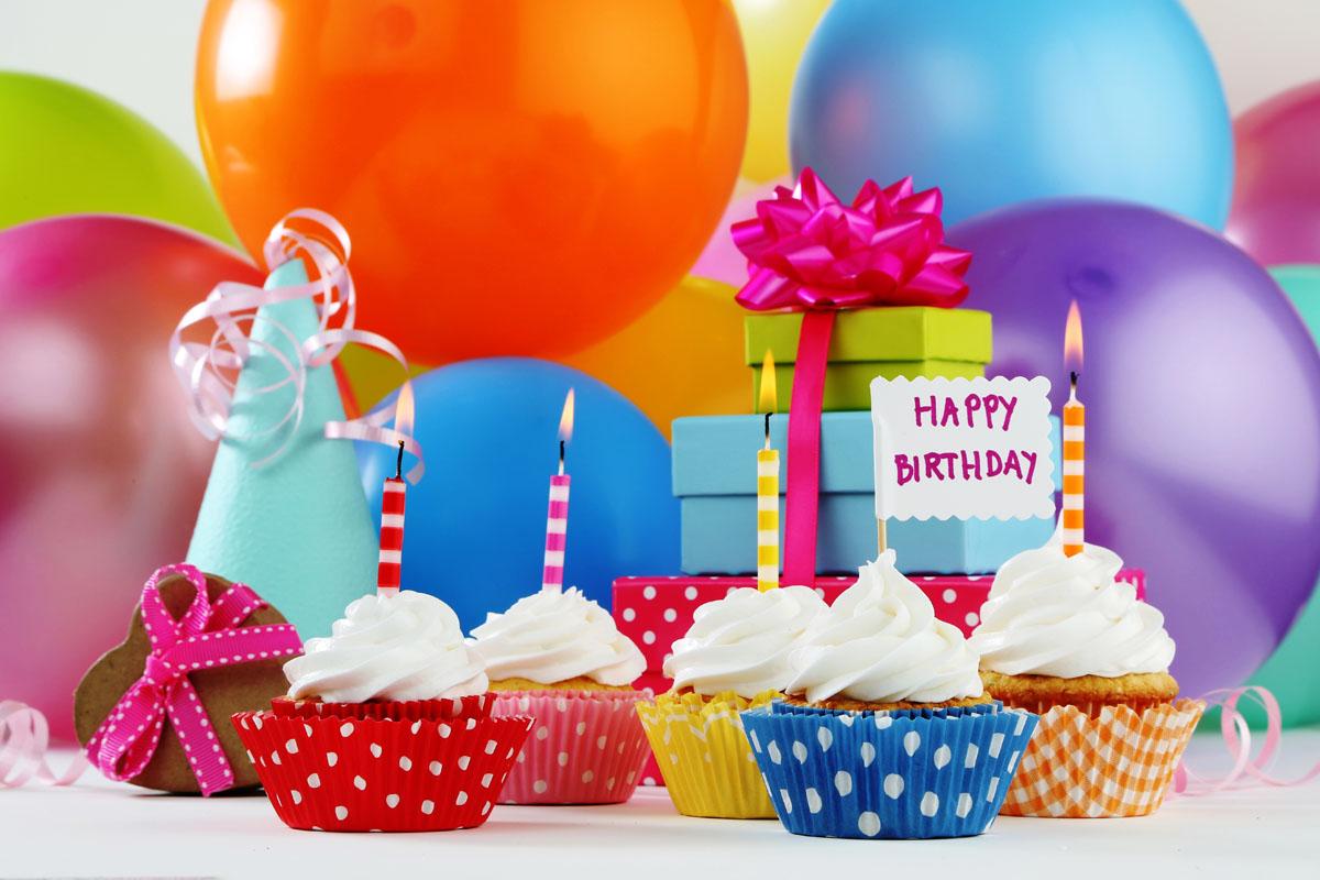 Поздравления с днем рождения картинки с шариками