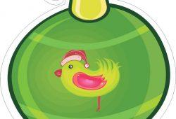 Ёлочная игрушка, дизайн #07811