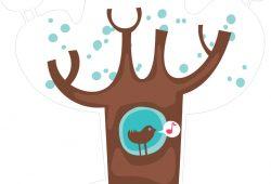 Зимнее дерево, дизайн #07817