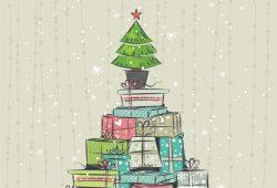 Новогодние подарки, дизайн #07827