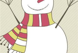 Снеговик, дизайн #07834