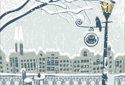 Зимний город, дизайн #08009
