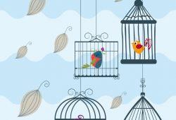 Птички в клетке, дизайн #08154