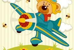 Мишка на вертолете, дизайн #08159