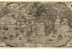 Карта мира 16 века, дизайн #08275