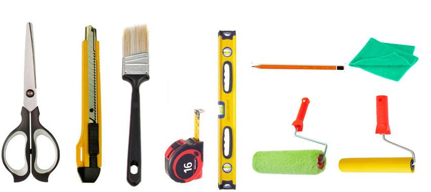 инструменты для оклейки стен
