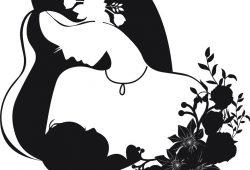 Девушка в цветах, дизайн #08372