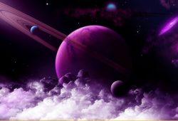 Фиолетовая планета, дизайн #08464