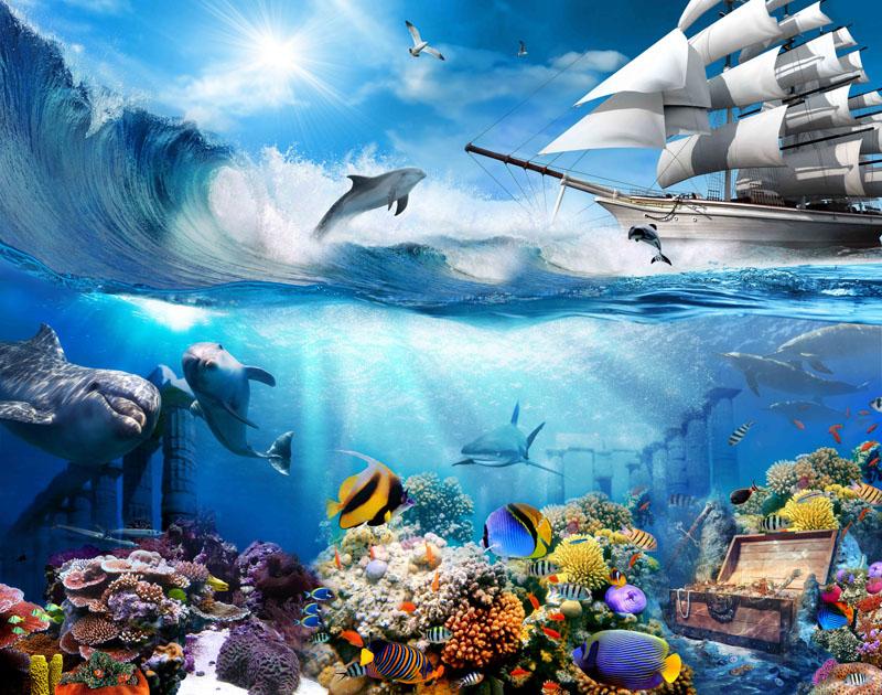 Фотообои Подводный мир, дизайн #08602